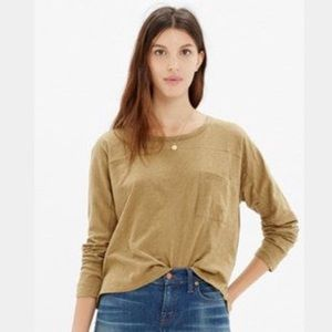 Madewell Effortless Tee Shirt In Yellow